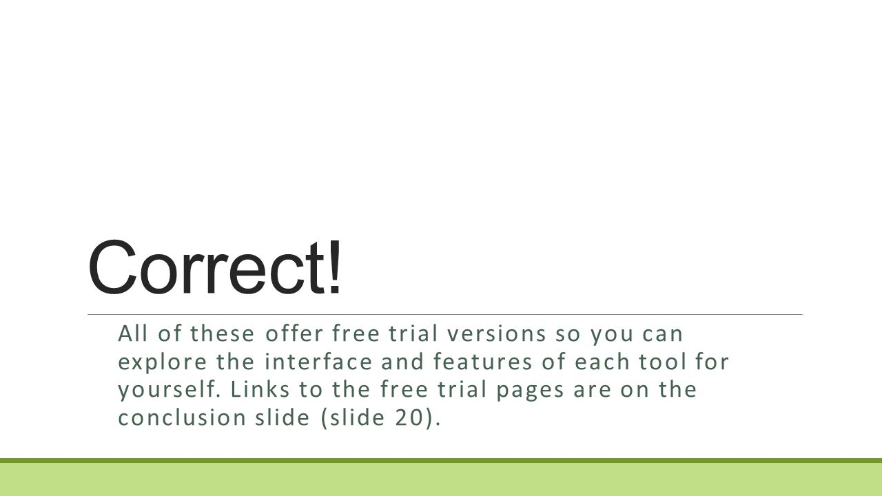 Which software tool offers a free trial version.