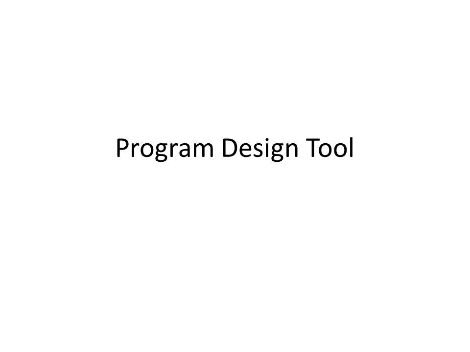 Program Design Tool