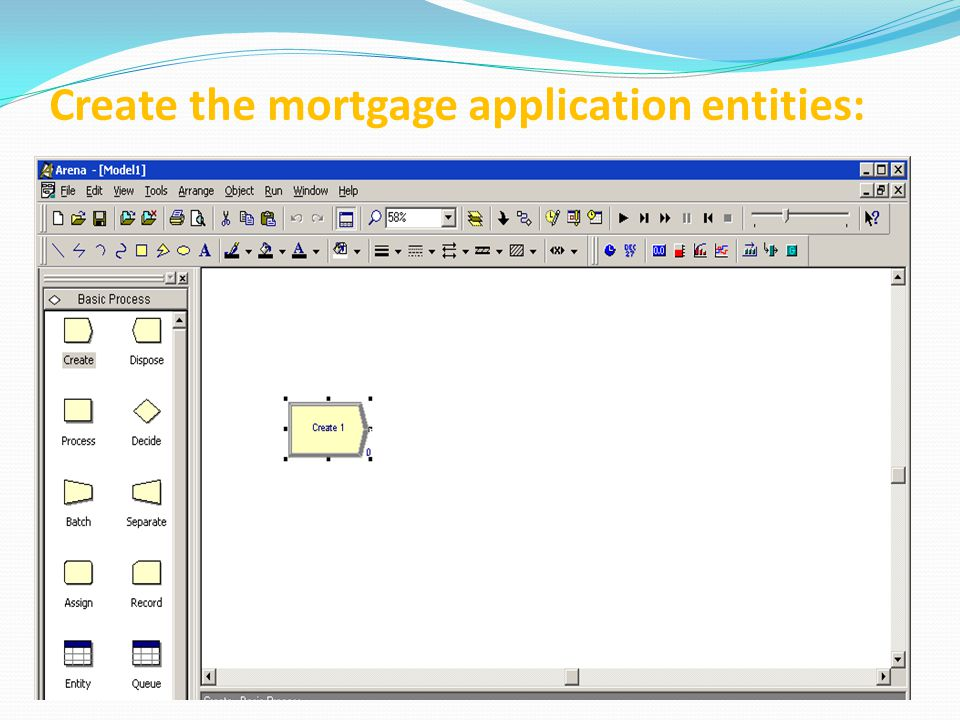 Create the mortgage application entities: