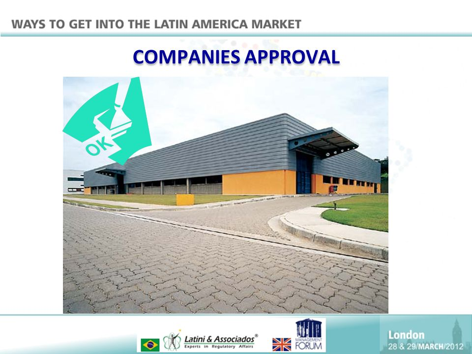 COMPANIES APPROVAL