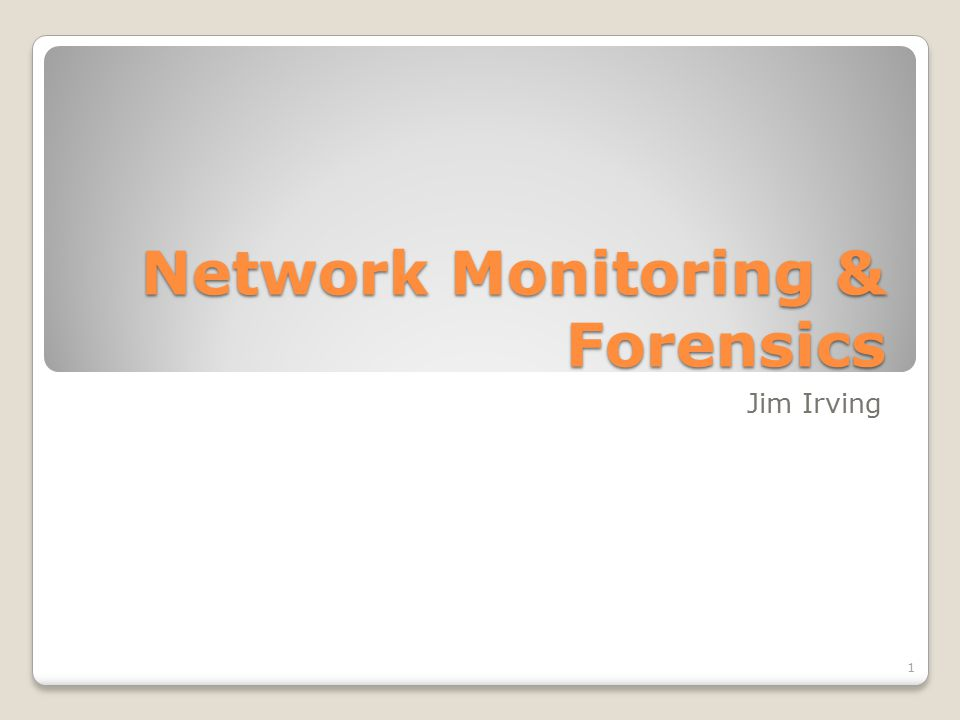 Network Forensics Usefulness Intro to forensic data types Working with PCAP data What it looks like How to interpret it How to get it Working with flow data What it looks like How to interpret it How to get it Agenda Host Forensics PCAP and flow recap Working with logs and alerts What they look like How to interpret them Getting them all in one place SIEM's and their familiars Fielding a monitoring solution 2