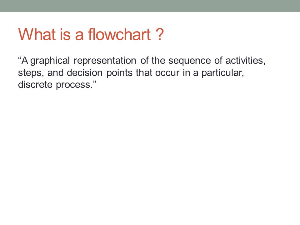 What is a flowchart .