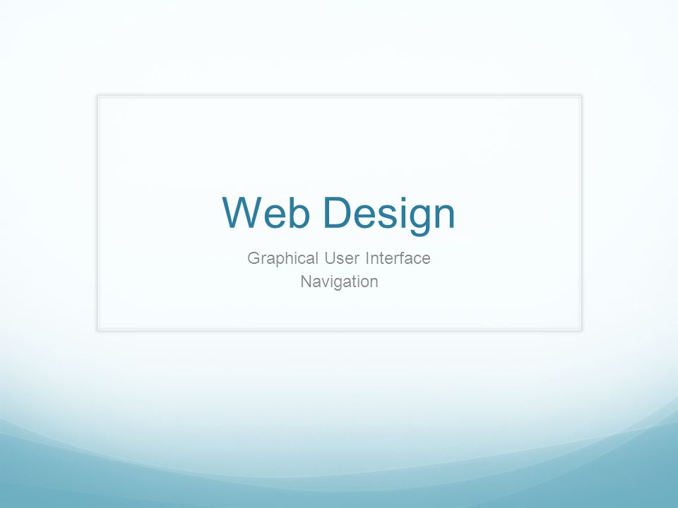 Web Design Graphical User Interface Navigation