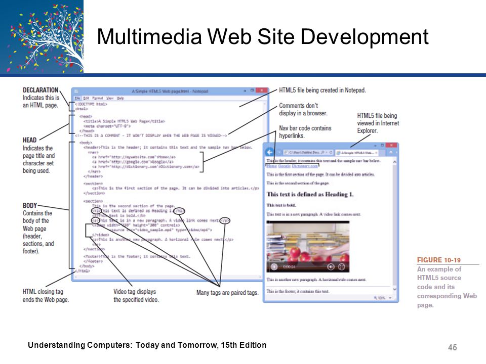 Multimedia Web Site Development Understanding Computers: Today and Tomorrow, 15th Edition 45
