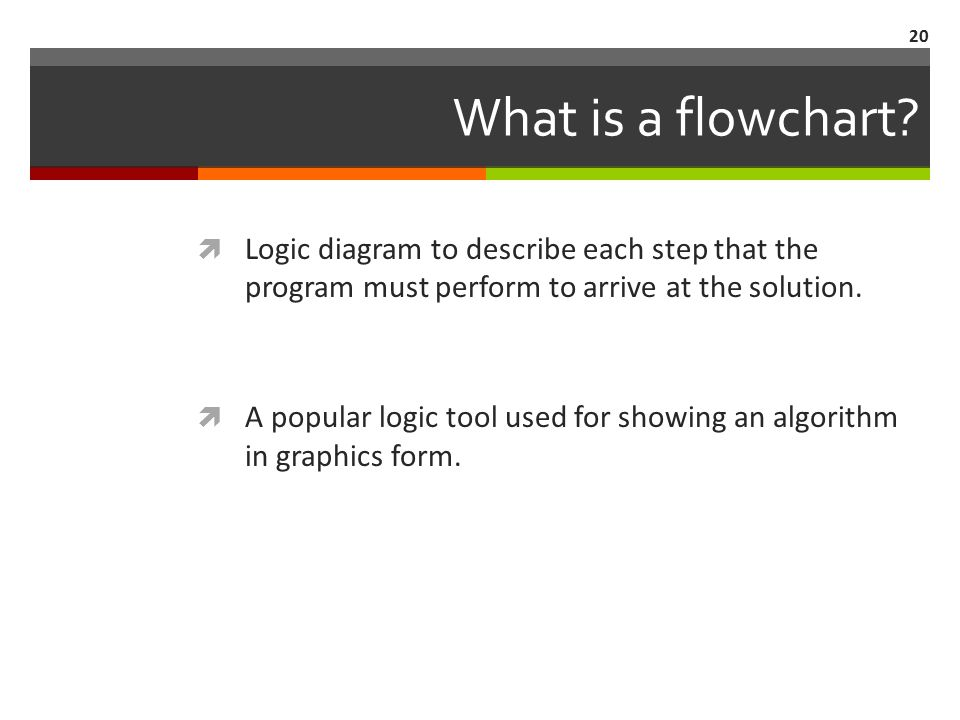 20 What is a flowchart.