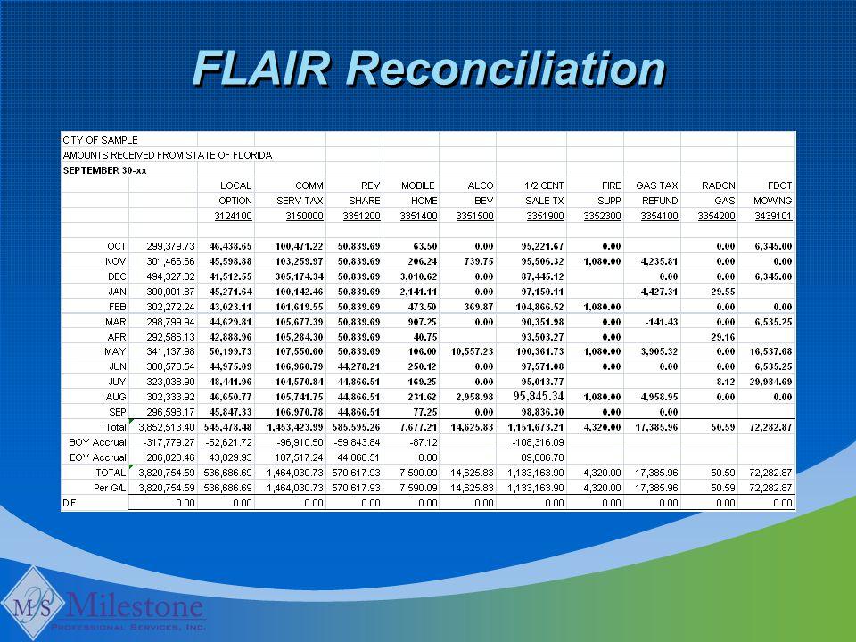 FLAIR Reconciliation