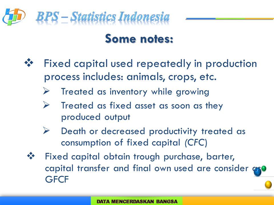 Some notes:  Fixed capital used repeatedly in production process includes: animals, crops, etc.