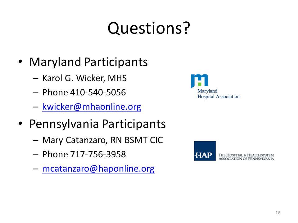 Questions. Maryland Participants – Karol G.