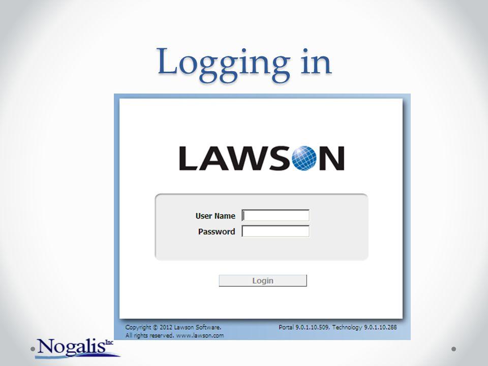 Logging in