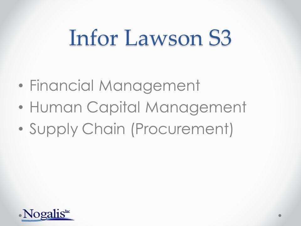 Infor Lawson S3 Financial Management Human Capital Management Supply Chain (Procurement)