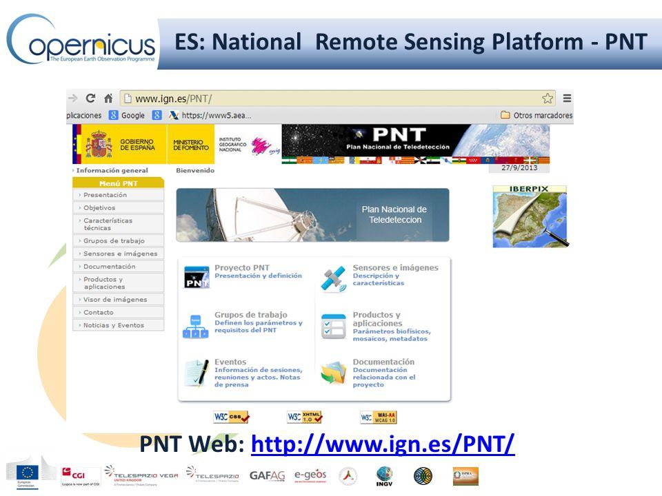 PNT Blog:http://blogpnt.wordpress.comhttp://blogpnt.wordpress.com ES: National Remote Sensing Platform - PNT