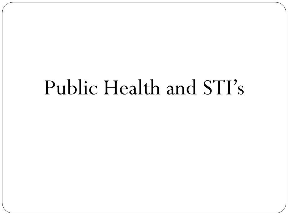 Public Health and STI's