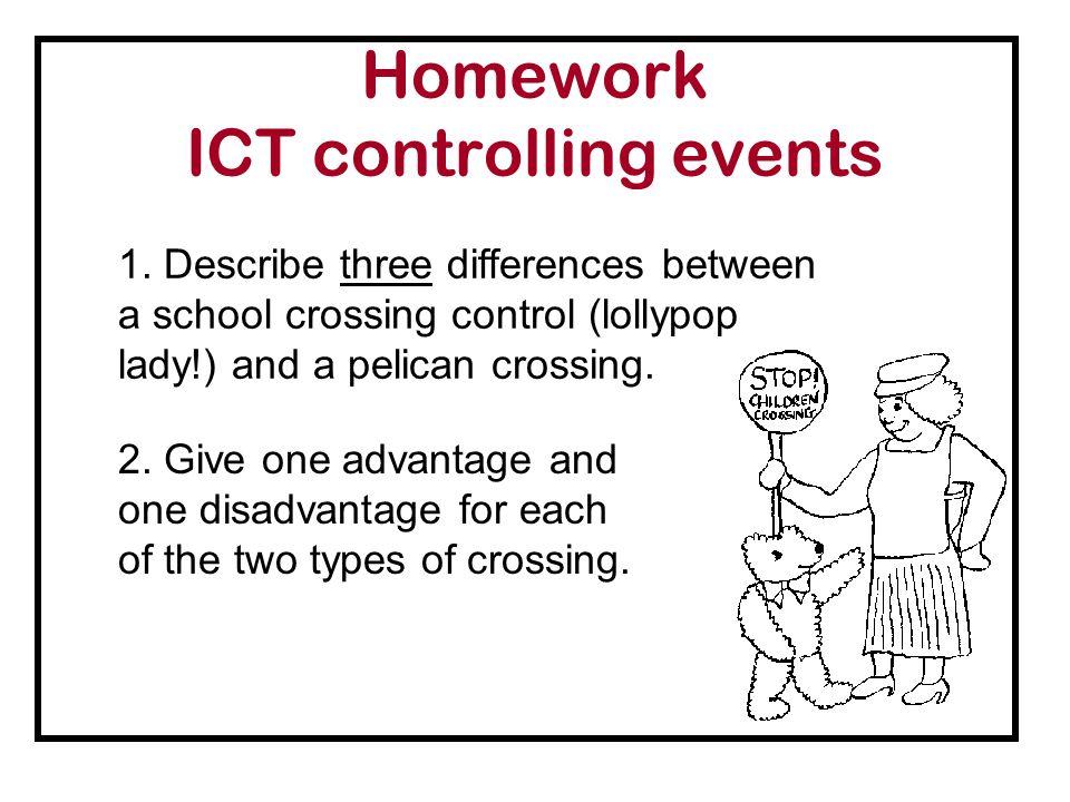 Homework ICT controlling events 1.