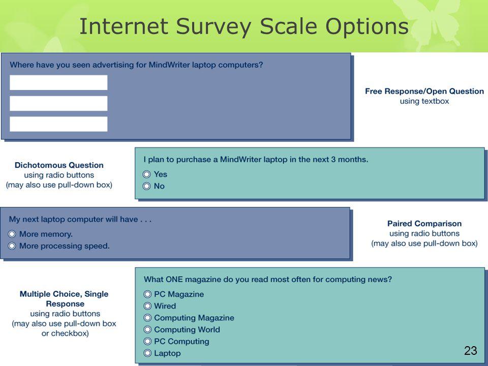 Internet Survey Scale Options 23
