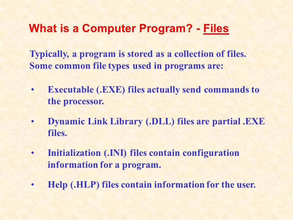 The program tells the CPU to process interrupts, or sets of steps the CPU must follow to perform a task.