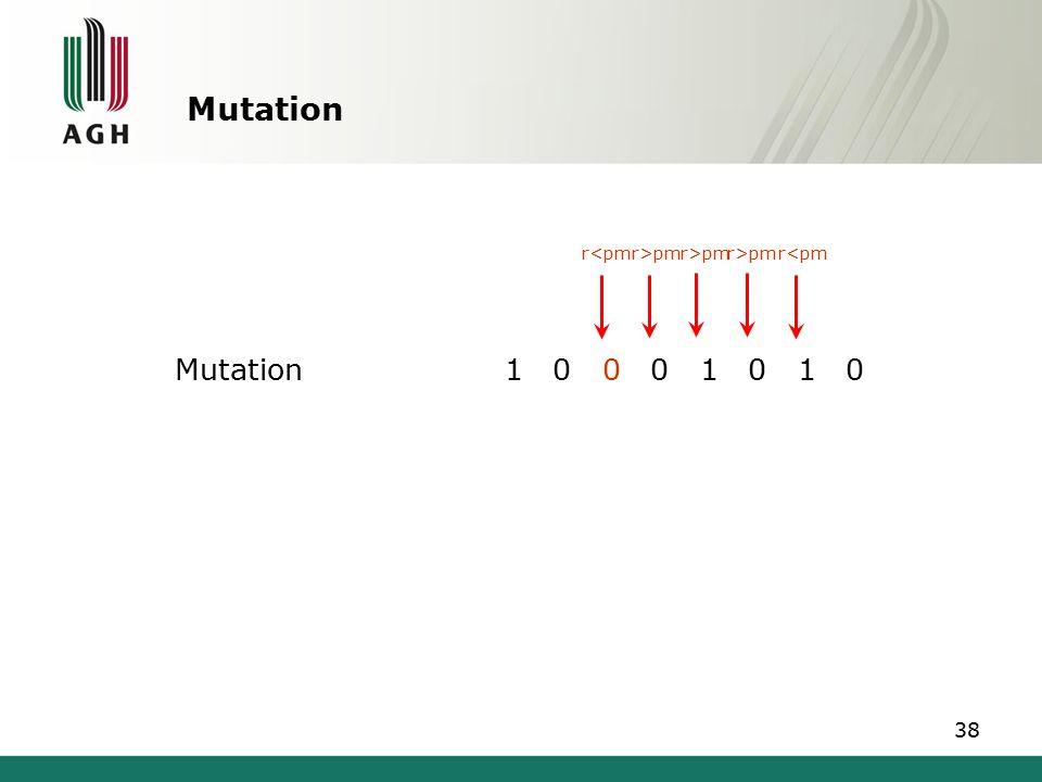 Mutation Mutation 1 0 0 0 1 0 1 0 r<pmr>pm r<pm 38