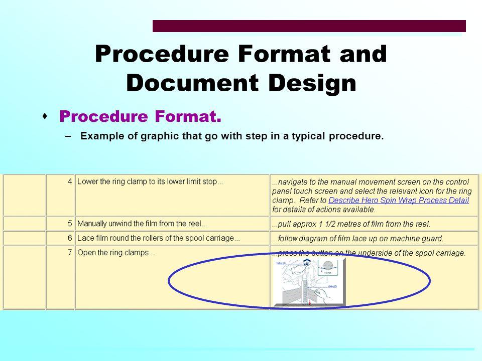 Procedure Format and Document Design  Procedure Format.