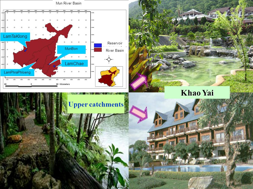 Upper catchments LamTaKlong LamPhraPhloeng MunBon LamChae Reservoir River Basin Mun River Basin Khao Yai