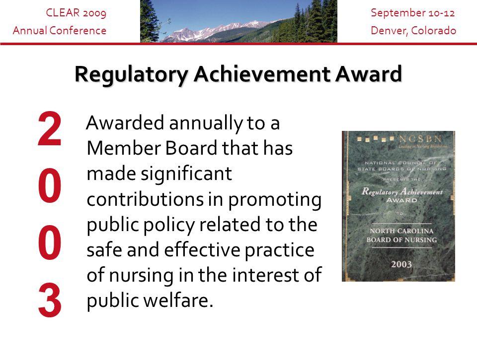 CLEAR 2009 Annual Conference September 10-12 Denver, Colorado Works Cited Baldrige National Quality Program.