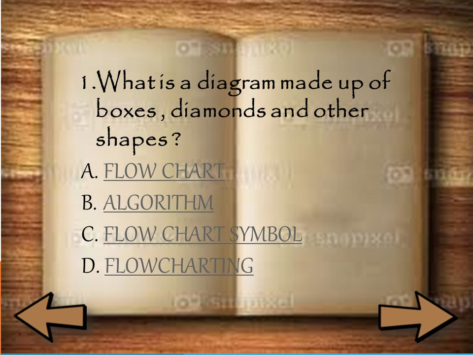 1.What is a diagram made up of boxes, diamonds and other shapes .