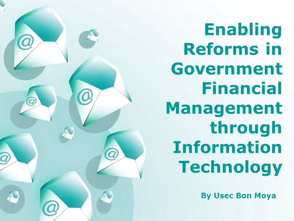 Powerpoint Templates Page 1 Powerpoint Templates Enabling Reforms in Government Financial Management through Information Technology By Usec Bon Moya