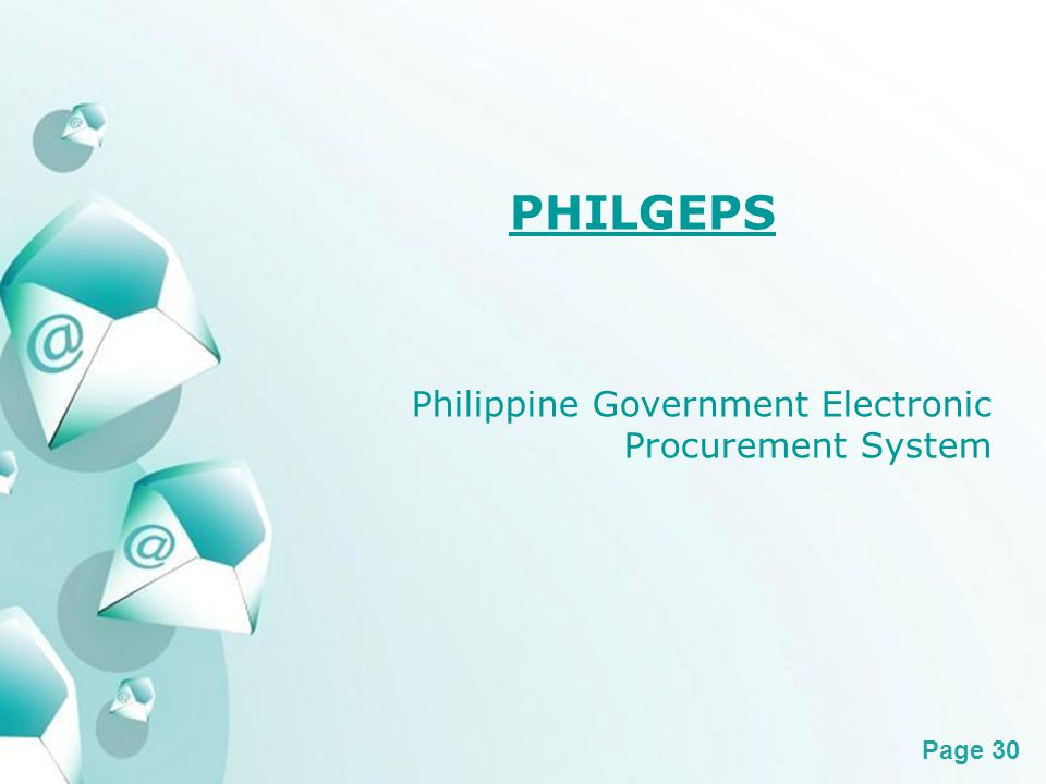 Powerpoint Templates Page 30 PHILGEPS Philippine Government Electronic Procurement System