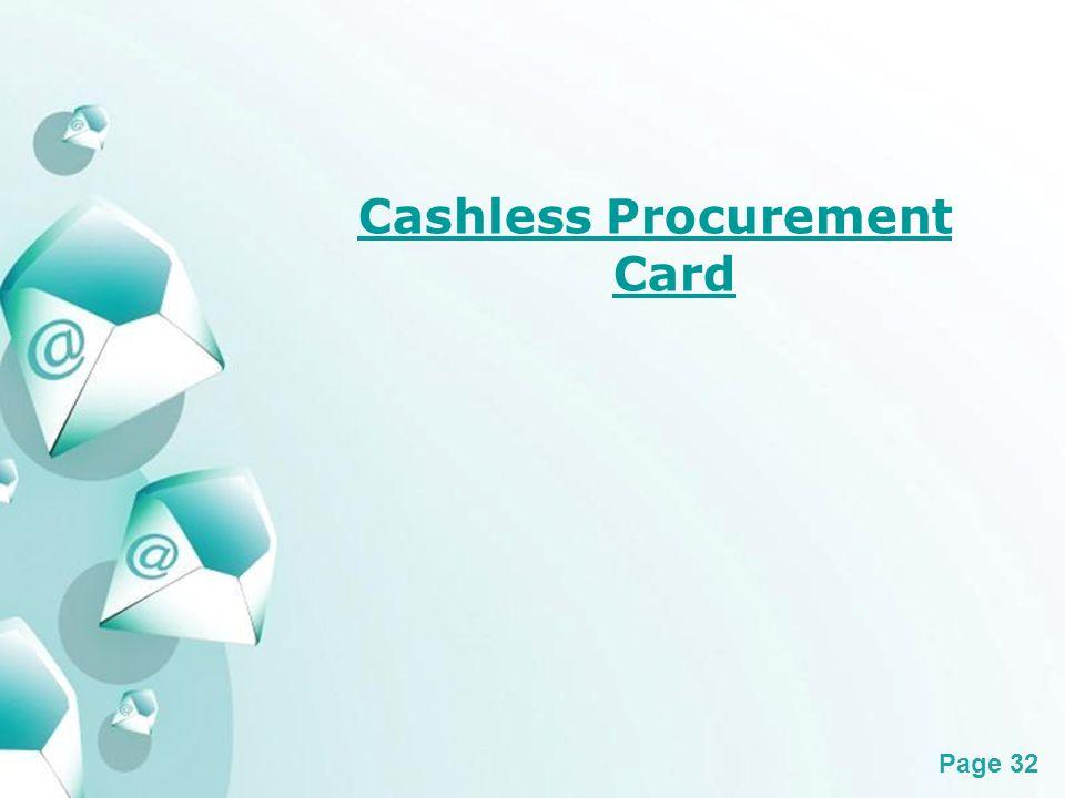 Powerpoint Templates Page 32 Cashless Procurement Card