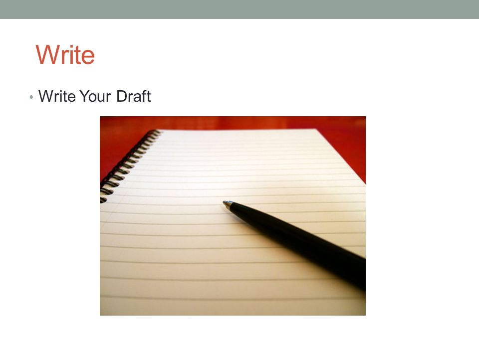 Write Write Your Draft