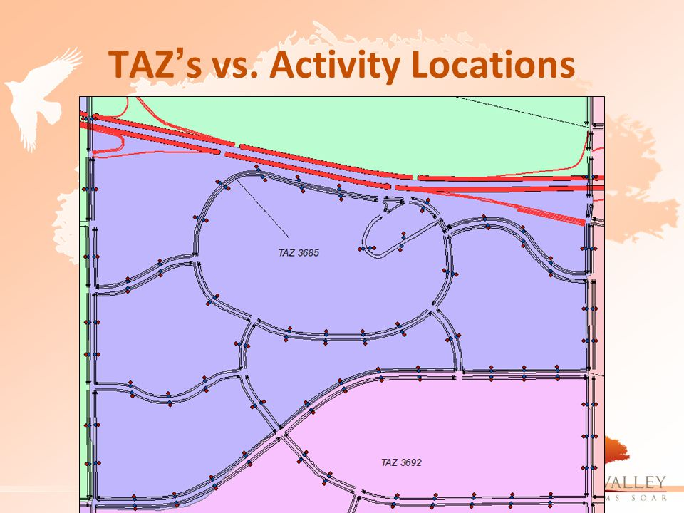 TAZ's vs. Activity Locations