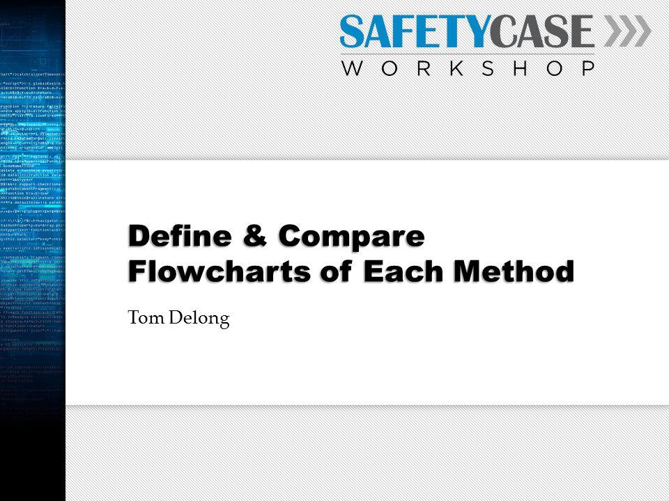 Define & Compare Flowcharts of Each Method Tom Delong