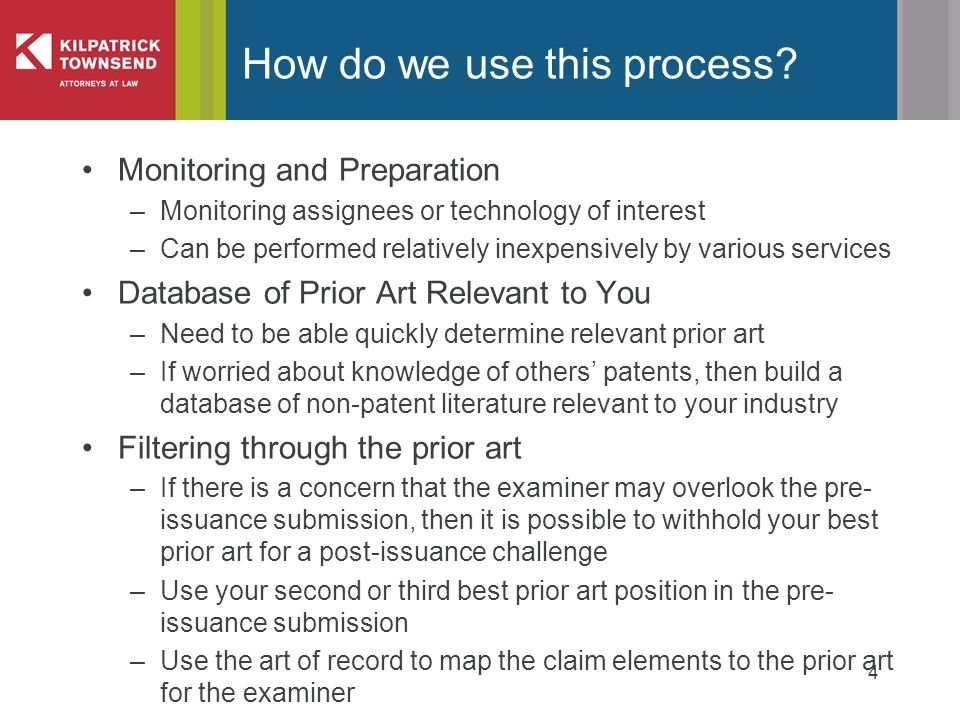 4 How do we use this process.