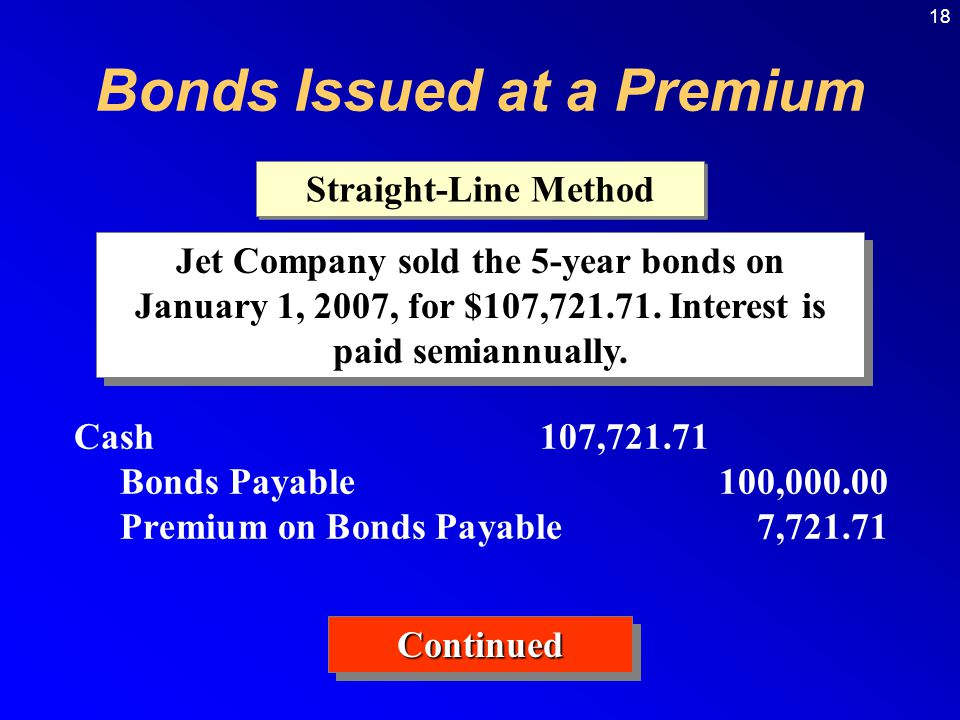 18 Jet Company sold the 5-year bonds on January 1, 2007, for $107,721.71.