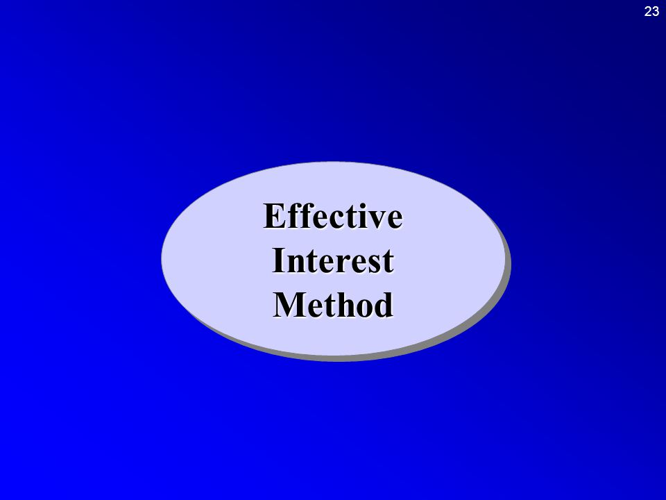 23 Effective Interest Method