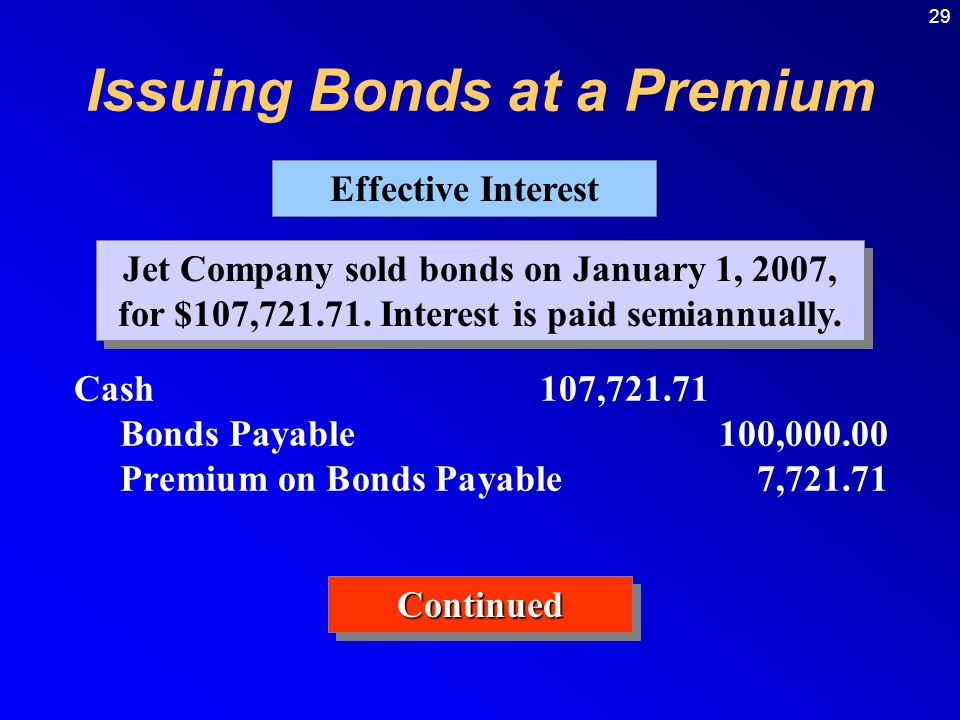 29 Jet Company sold bonds on January 1, 2007, for $107,721.71.