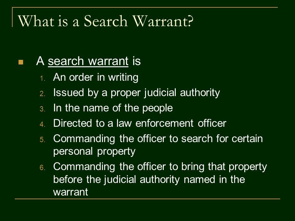 Applying for Search Warrants