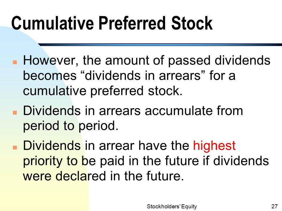Stockholders Equity26 Preferred Stock Characteristics (contd.) 3.