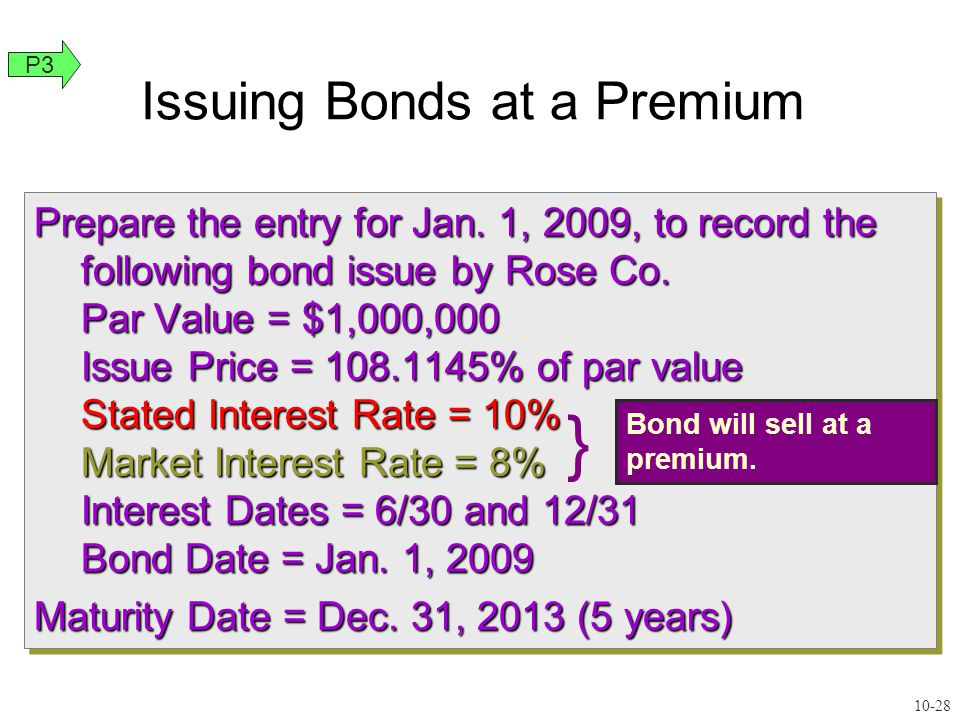 Prepare the entry for Jan.1, 2009, to record the following bond issue by Rose Co.