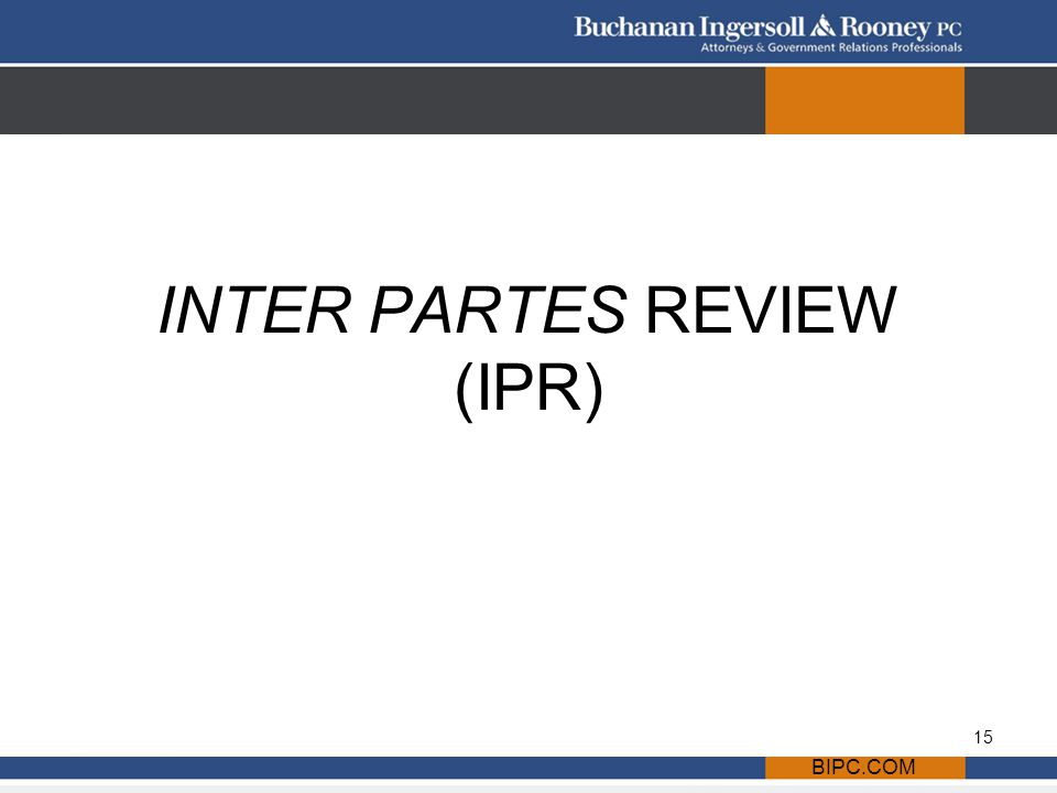 BIPC.COM INTER PARTES REVIEW (IPR) 15