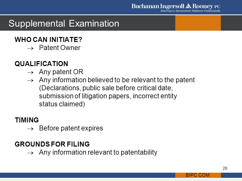 Supplemental Examination WHO CAN INITIATE.
