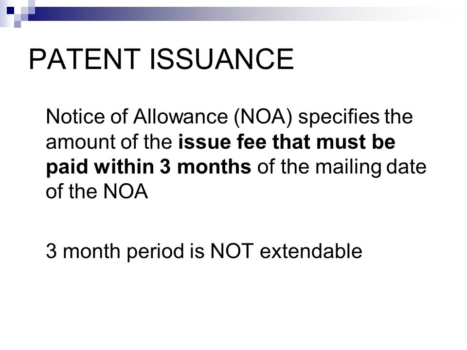 Report issue of patent ASAP Docket for: (1) Payment of maintenance fees; and (2) Broadening reissue filing deadline PATENT ISSUANCE