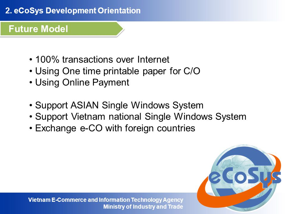 Vietnam E-Commerce and Information Technology Agency Ministry of Industry and Trade 2.