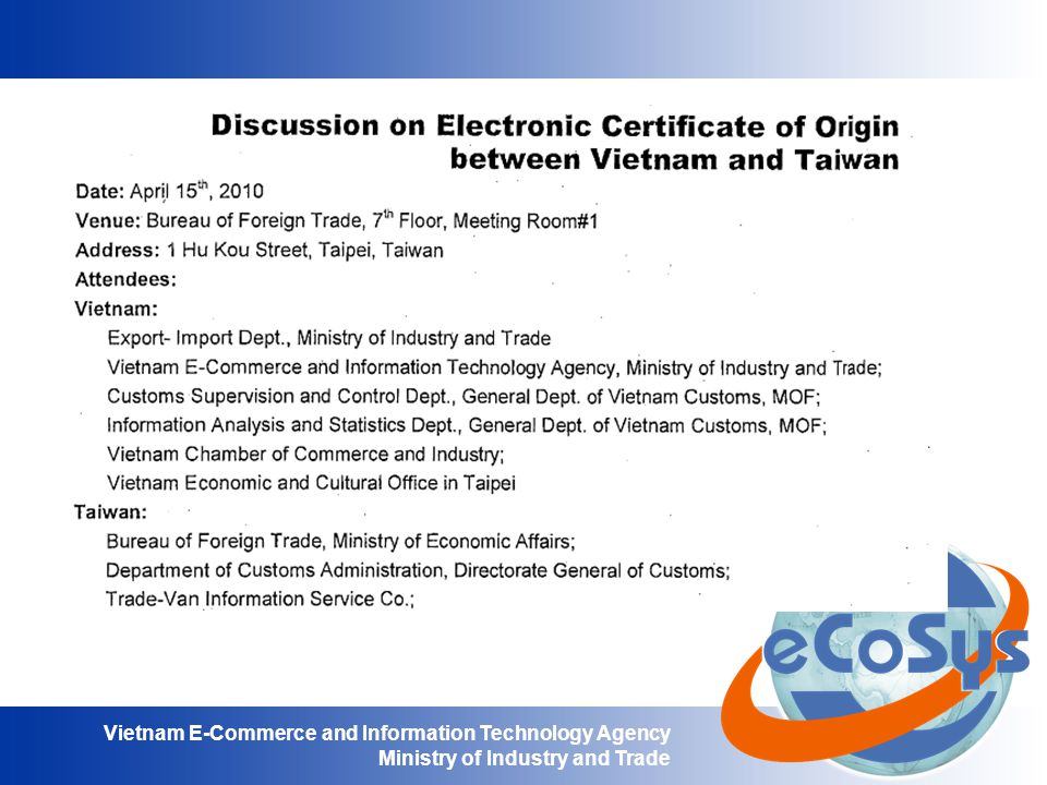 Vietnam E-Commerce and Information Technology Agency Ministry of Industry and Trade