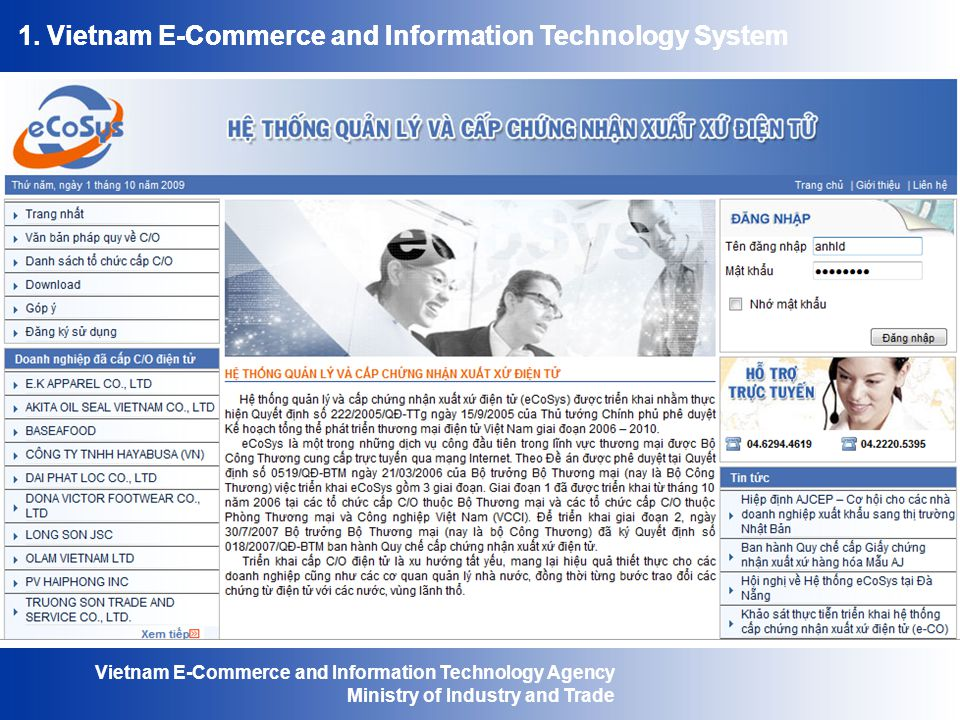 Vietnam E-Commerce and Information Technology Agency Ministry of Industry and Trade 1.