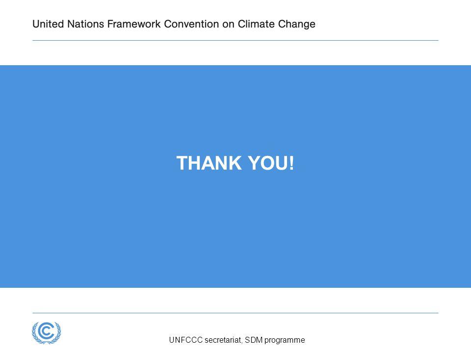 UNFCCC secretariat, SDM programme THANK YOU!