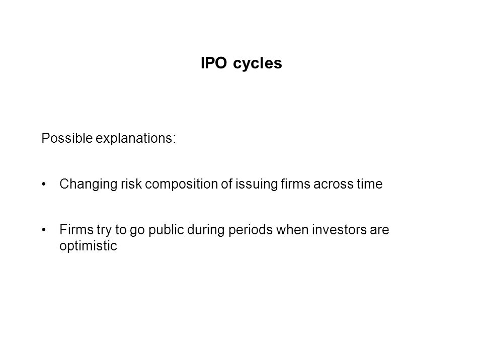 IPO underpricing Additional evidence: Investment bankers underprice their own IPOs.