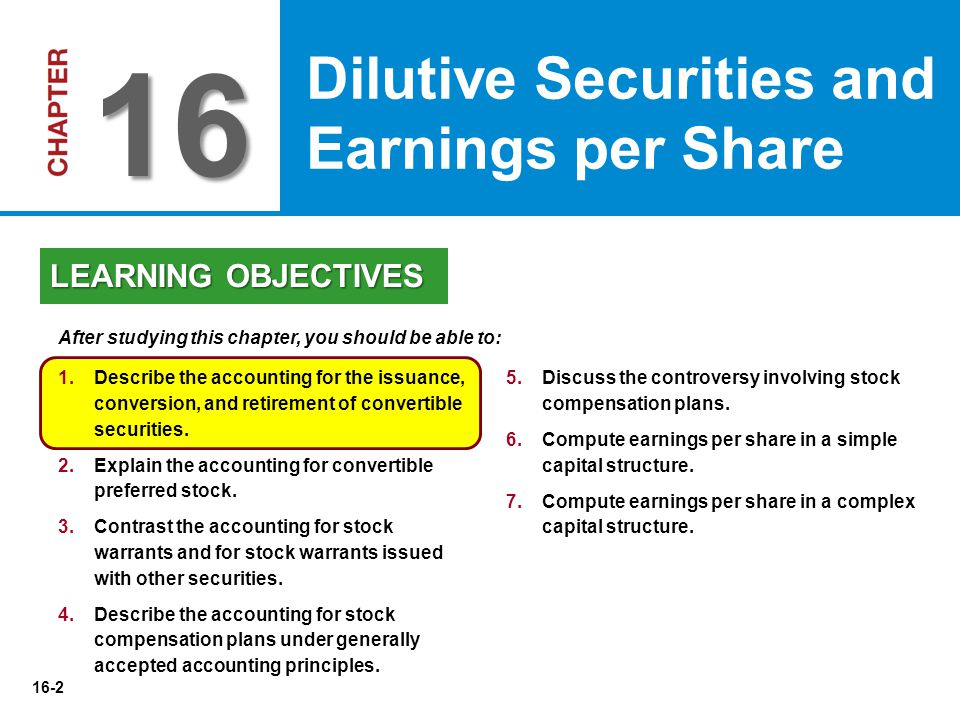 16-63   Simple Structure--Common stock; no potentially dilutive securities.