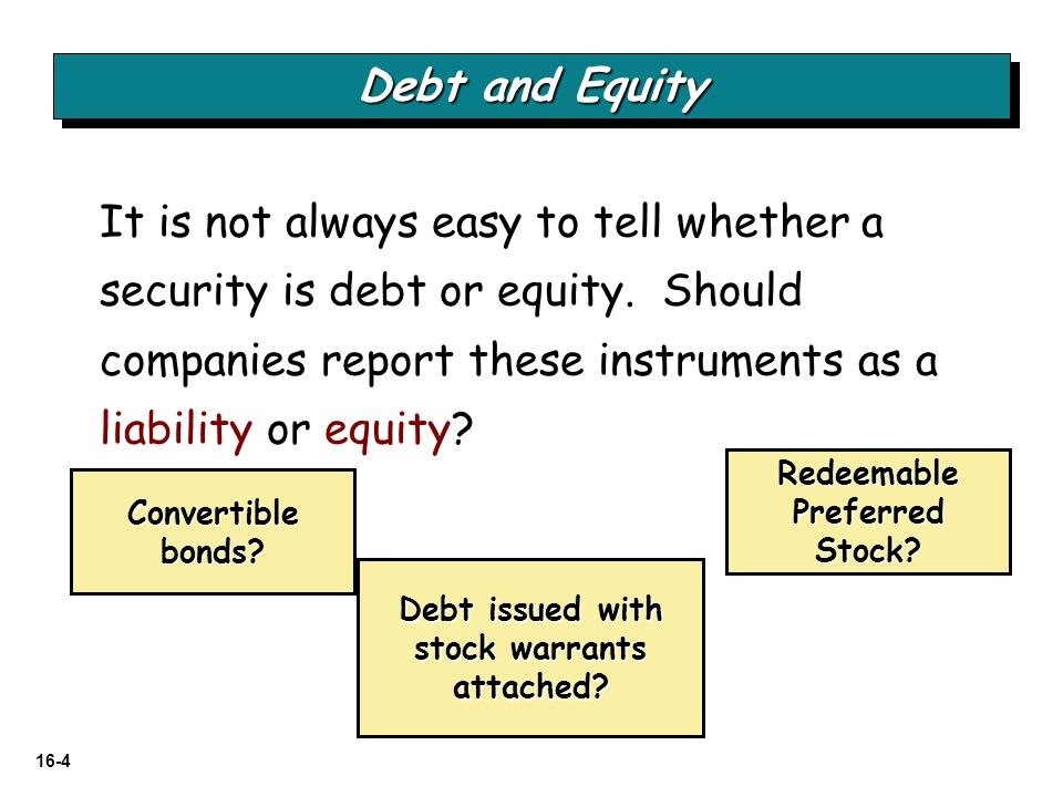 16-125 RELEVANT FACTS - Differences  A significant difference between IFRS and GAAP is the accounting for securities with characteristics of debt and equity, such as convertible debt.