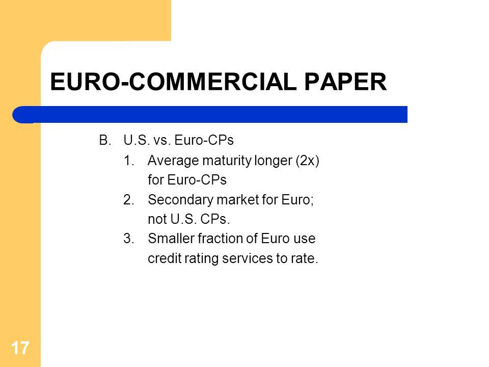 17 EURO-COMMERCIAL PAPER B.U.S. vs.