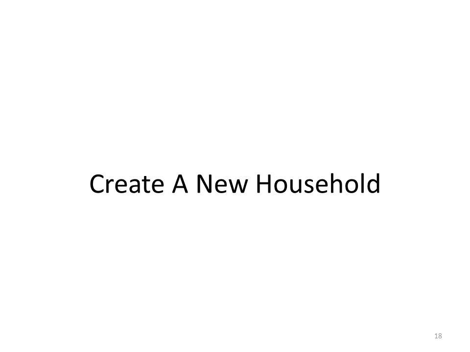 Create A New Household 18