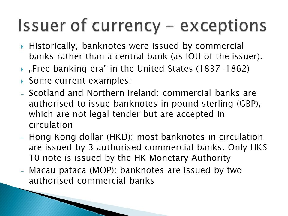  accepting deposits from commercial banks and extending loans to them, within the framework of  monetary policy tools  operation of payment systems - RTGS systems (real-time gross settlement) - clearing: calculating the respective obligations of participants (done NOT by central banks but by clearing houses, e.g.
